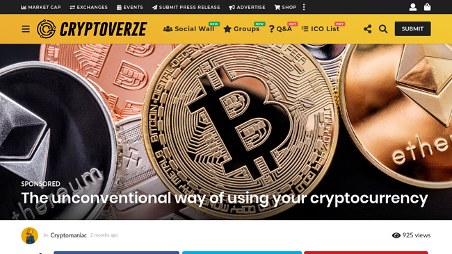 https://cryptoverze.com/the-unconventional-way-of-using-your-cryptocurrency/
